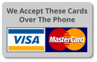 We now accept Visa, MasterCard and American Express